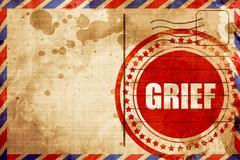 grief - stock illustration