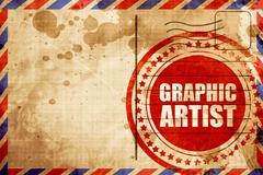 graphic artist - stock illustration