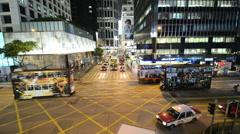 Hong Kong - JULY 29, 2014: Busy traffic on July 29 in Hong Kong, China. Hong Stock Footage