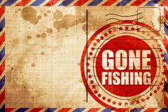 Gone fishing Stock Illustration