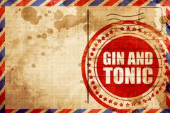 gin and tonic - stock illustration