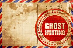 Ghost hunting Stock Illustration
