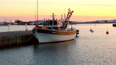 Boat at a evening in earley spring Hanko in Uusimaa, Finland Stock Footage