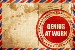 Genius at work Stock Illustration