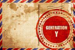 Generation y word Stock Illustration
