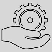 Development Service Outline Glyph Icon Stock Illustration