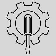 Engineering Outline Glyph Icon - stock illustration