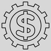 Financial Industry Outline Glyph Icon - stock illustration