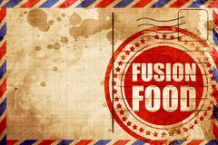 fusion food - stock illustration