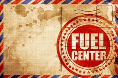 fuel center - stock illustration