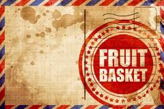 fruit basket - stock illustration