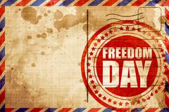 freedom day - stock illustration