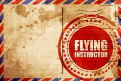 Flying instructor Stock Illustration