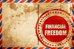 financial freedom - stock illustration