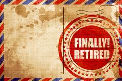 finally retired - stock illustration