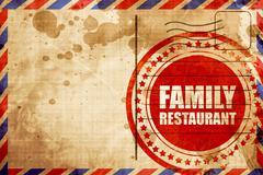 family restaurant - stock illustration