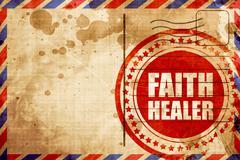 faith healer - stock illustration
