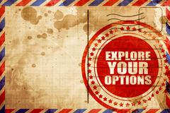 Explore your options Stock Illustration