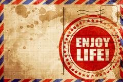 enjoy life! - stock illustration
