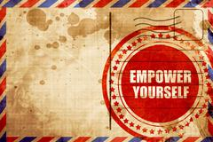 empower yourself - stock illustration