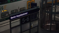 ULTRA HD 4K real time shot,interior of Berlin central train station - stock footage