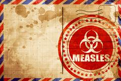 Measles concept background - stock illustration