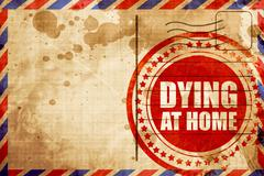 Dying at home Stock Illustration