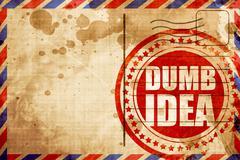 Dumb idea Stock Illustration