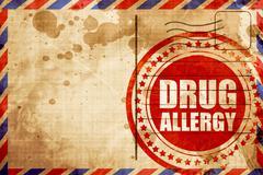 drug allergy - stock illustration
