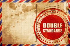 double standards - stock illustration