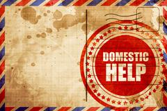 domestic help - stock illustration