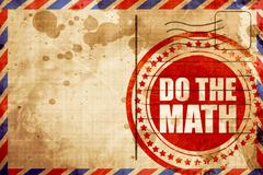 do the math - stock illustration