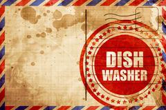 dish washer - stock illustration