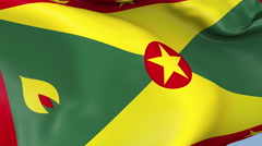 Grenada Waving Flag Background Loop Stock Footage