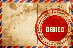 Denied sign background Stock Illustration