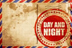 day and night - stock illustration
