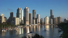 Morning in brisbane from kangaroo point Stock Footage