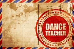 Dance teacher Stock Illustration
