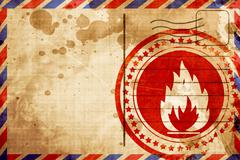 Flammable hazard sign - stock illustration