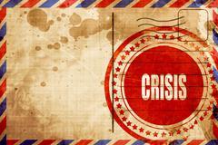 Crisis sign background - stock illustration