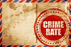 crime rate - stock illustration