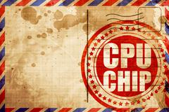 Cpu chip Stock Illustration