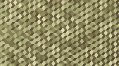 Background animation loop of camouflaged cubes in army colors. Stock Footage