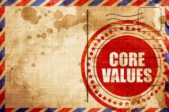 core values - stock illustration