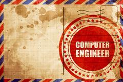 computer engineer - stock illustration