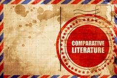 comparative literature - stock illustration