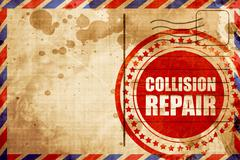 collision repair - stock illustration