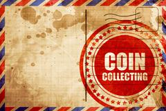 Coin collecting Stock Illustration