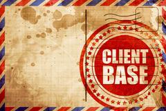 Client base Stock Illustration