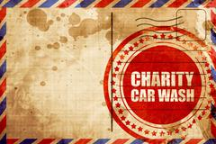 charity car wash - stock illustration